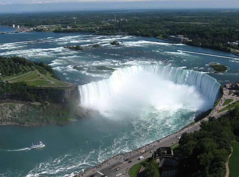 Нниагарский водопад на карте мира