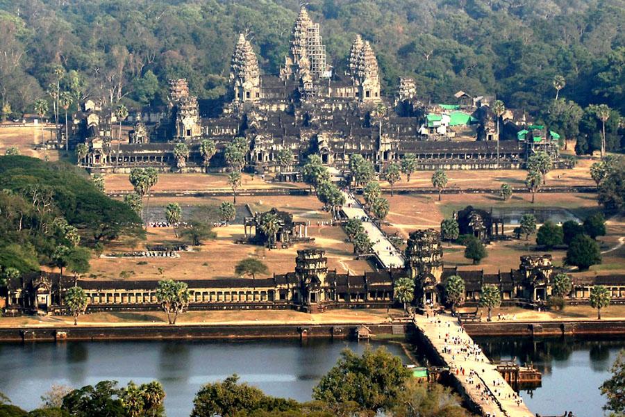 Ангкор-Ват храмовый комплекс в Камбодже